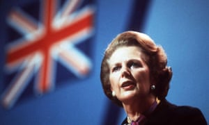 Prime minister Margaret Thatcher addresses the Conservative party conference in 1982.