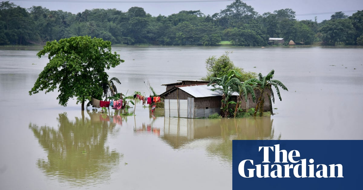 Over 1 million people affected and 13 killed by India's floods - The Guardian