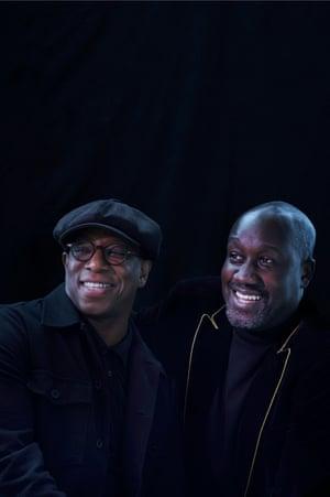 Football star Ian Wright and author Musa Okwonga.