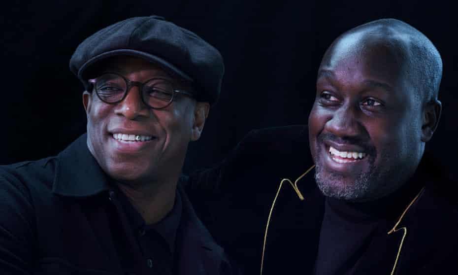 Ian Wright, left, and Musa Okwonga.