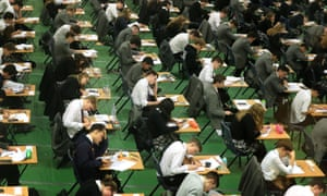 Students sitting their GCSEs