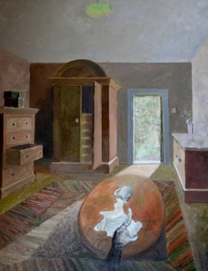 Large Interior With Cat by Robin Rae
