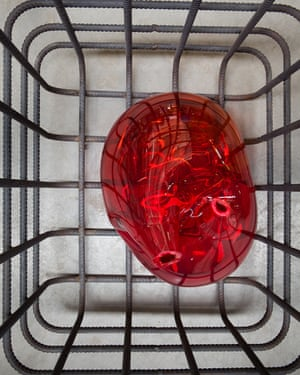 Cellules (Cells) 2012 - 2013 by Mona Hatoum Mild steel and blown glass in 8 parts