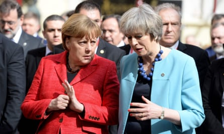 He grabbed what? Angela Merkel could seek advice from her British counterpart, Theresa May, before her meeting with Donald Trump.