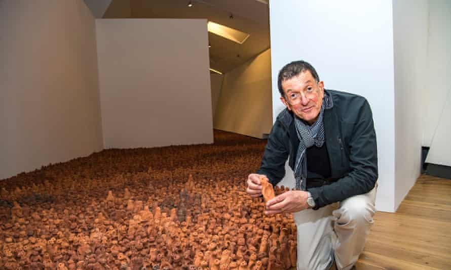 Antony Gormley says Field for the British Isles evokes questions about migration.