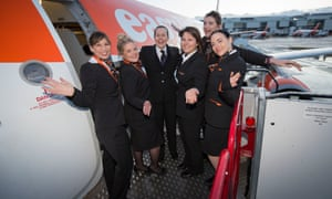All female EasyJet crew, 8 March 2018.