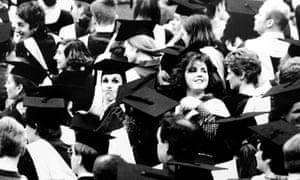 Brighton Polytechnic students at their graduation ceremony