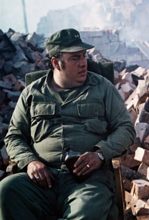 Barry Nuttall surrounded by the rubble that was once his home.