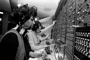 Switchboard operators at work in 1970