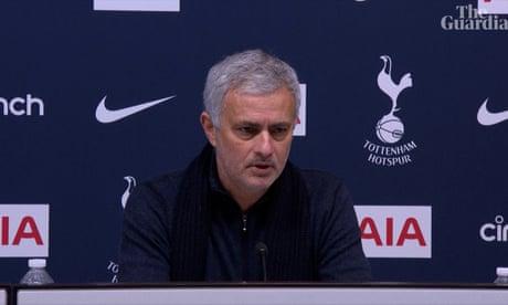 'Not good enough': José Mourinho on Tottenham's draw against Fulham – video