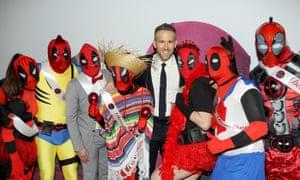 Ryan Reynolds at a Deadpool film fan event, New York, 8 February.