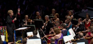 Marin Alsop conducts the last night of the Proms at the Royal Albert Hall in 2015.