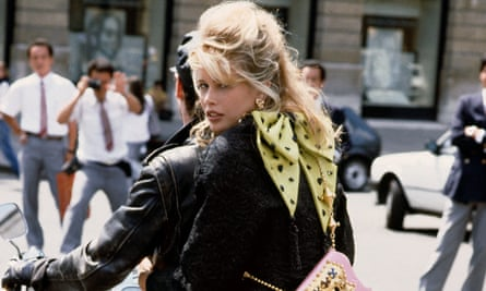 Claudia Schiffer, one of the supermodels who has swept through the pages of Vogue. Photograph: Herb Ritts