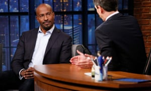 Van Jones during an interview with late-night host Seth Meyers.