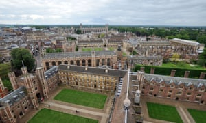 aerial view of buildings of Cambridge University