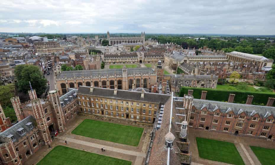 aerial view of buildings of Cambridge University