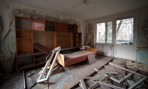 An abandoned house in Pripyat.