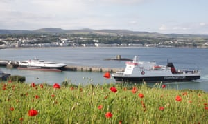 Isle of Man Steam Packet Company ferries in Douglas harbour