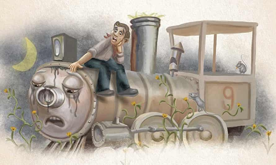A scene from Charlie the Choo-Choo by Beryl Evans/Stephen King, illustrated by Ned Dameron.
