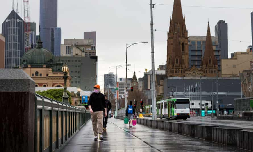 Melbourne CBD during stage 4 coronavirus restrictions