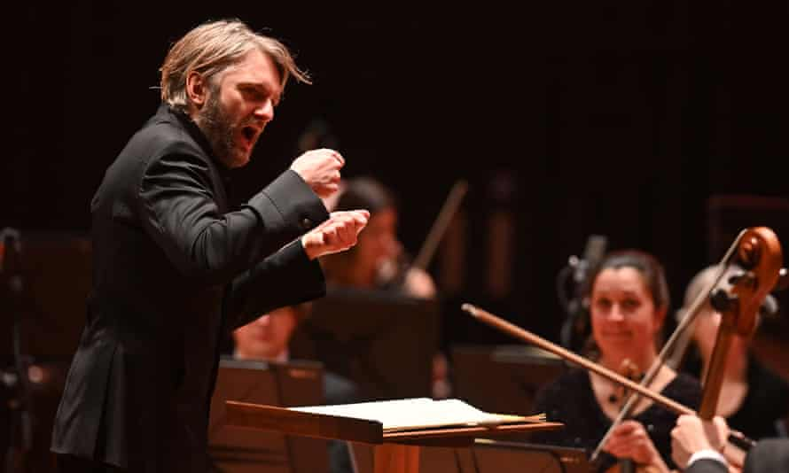 Carefully controlled … Kirill Karabits conducts the BSO.