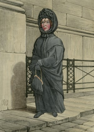 Lost soul … the Bank Nun, by an unknown artist, c1835. In 1812, former Bank clerk Paul Whitehead was executed for forgery. His sister, Sarah Whitehead, could not accept his death and kept coming to the Bank to look for him.