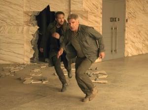 Ryan Gosling (left) and Harrison Ford in Blade Runner 2049.