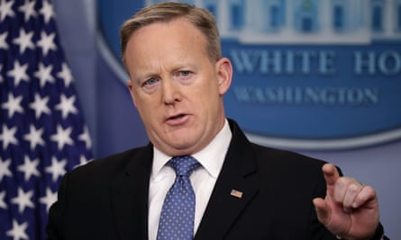 'Get with the programme' … White House press secretary Sean Spicer.