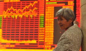 Stock markets screen in China