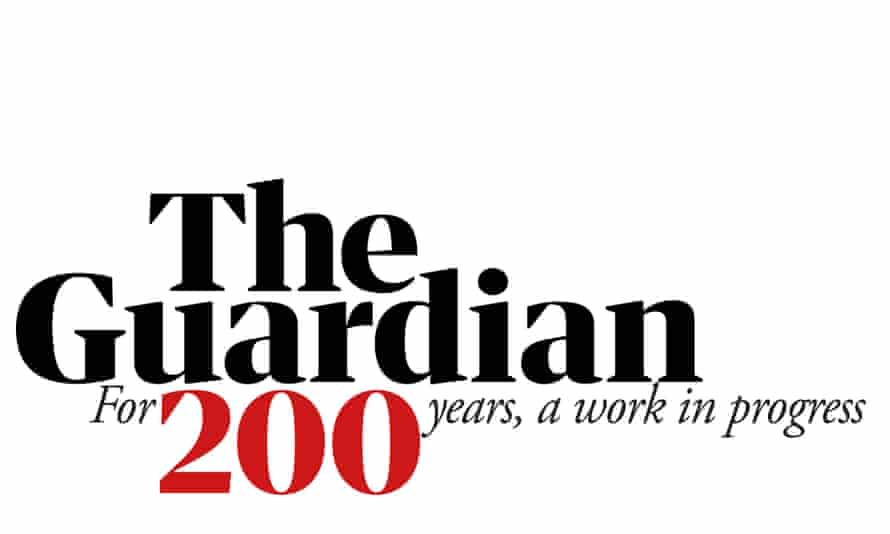 The Guardian's 200th anniversary logo by Guardian Design