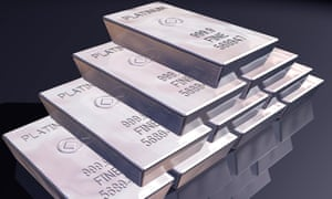 stack of pure platinum bars on a reflective surface. Image shot 2008. Exact date unknown.<br>B154KC stack of pure platinum bars on a reflective surface. Image shot 2008. Exact date unknown.
