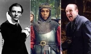 John Gielgud as Hamlet, Sophie Okonedo as Margaret in The Wars of the Roses and Ralph Fiennes as Richard III.