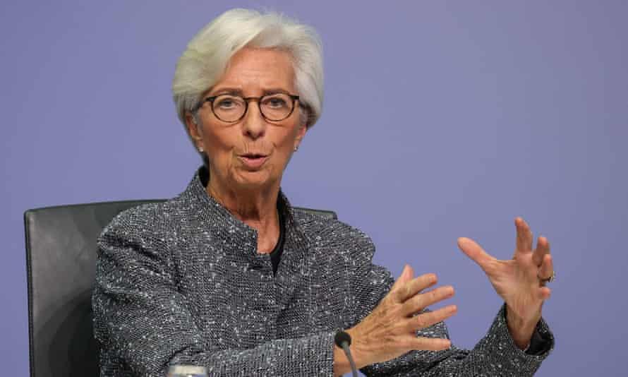 Christine Lagarde, president of the ECB
