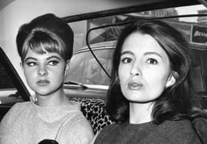 Sixties shocker … Christine Keeler, right, and Mandy Rice-Davies leave the Old Bailey in 1963.