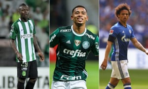 Manchester City are closing on, from left, Marlos Moreno, Gabriel Jesus and Leroy Sané.