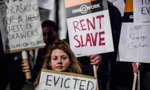 A London protest against revenge evictions, November 2014