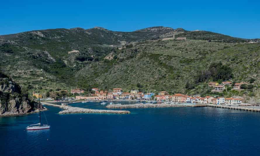 Capraia island in Tuscany
