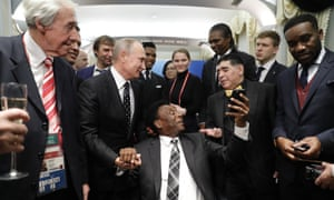 A big turn-out in Moscow for the World Cup draw.