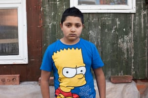 Young boy with Bart Simpson