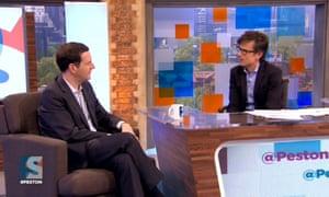 George Osborne on Peston on Sunday