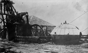 Newcomen's haystack boiler, which was made in the 1730's and was one of the first to use his steam engine.