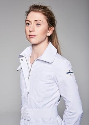 Cyclist Laura Trott in a Team GB jacket.