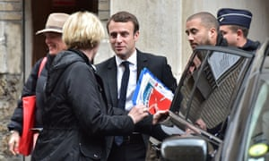 French presidential election candidate for the En Marche ! movement, Emmanuel Macron.