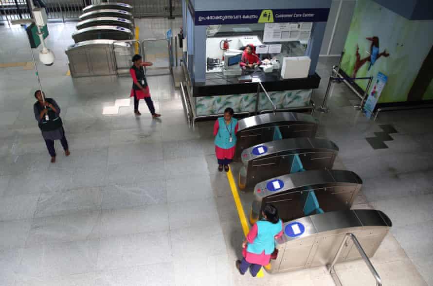 Muttom metro station in Kochi, Kerala