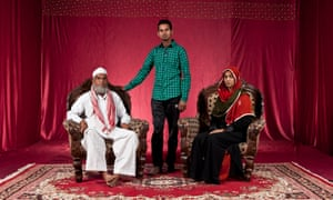 Mohammad Shafiq, Mohammad Shabad and Nusrat Jahan, who have lived in Blue Moon colony since 1991.