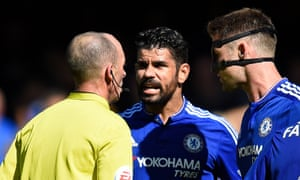 If Diego Costa had been shown a second yellow card during the match against Arsenal and received a one-match ban, there would be no complaints.