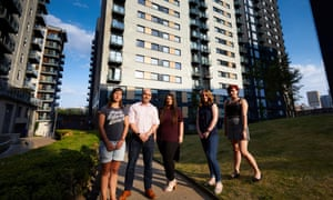 Leaseholders of Cypress Place, above, and Vallea Court in Manchester will have to pay about £10,000 each to make their blocks fire-safe.