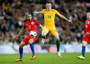 The impressive Andros Townsend battles with Brad Smith.