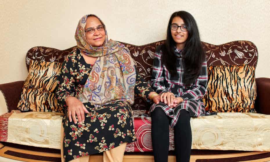 Anisa Afsar at her grandmother Khurshid Bashir's house in Dewsbury, Yorkshire.