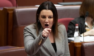 Jacqui Lambie points the finger in the Senate